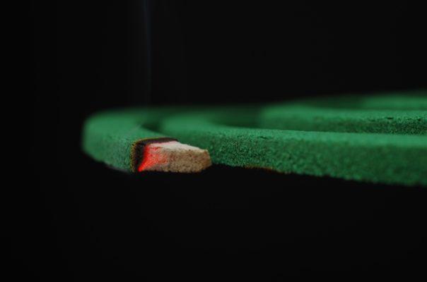 緑色の蚊取り線香