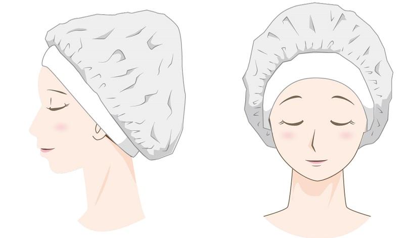 育毛剤の浸透を促進する方法(シャワーキャップ)
