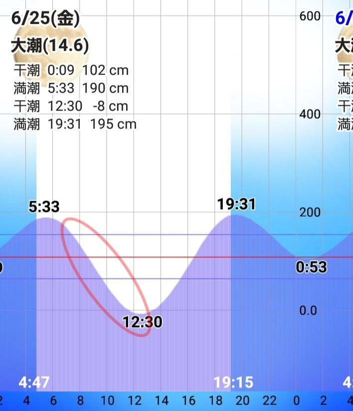 和歌山県紀北 タイドグラフ